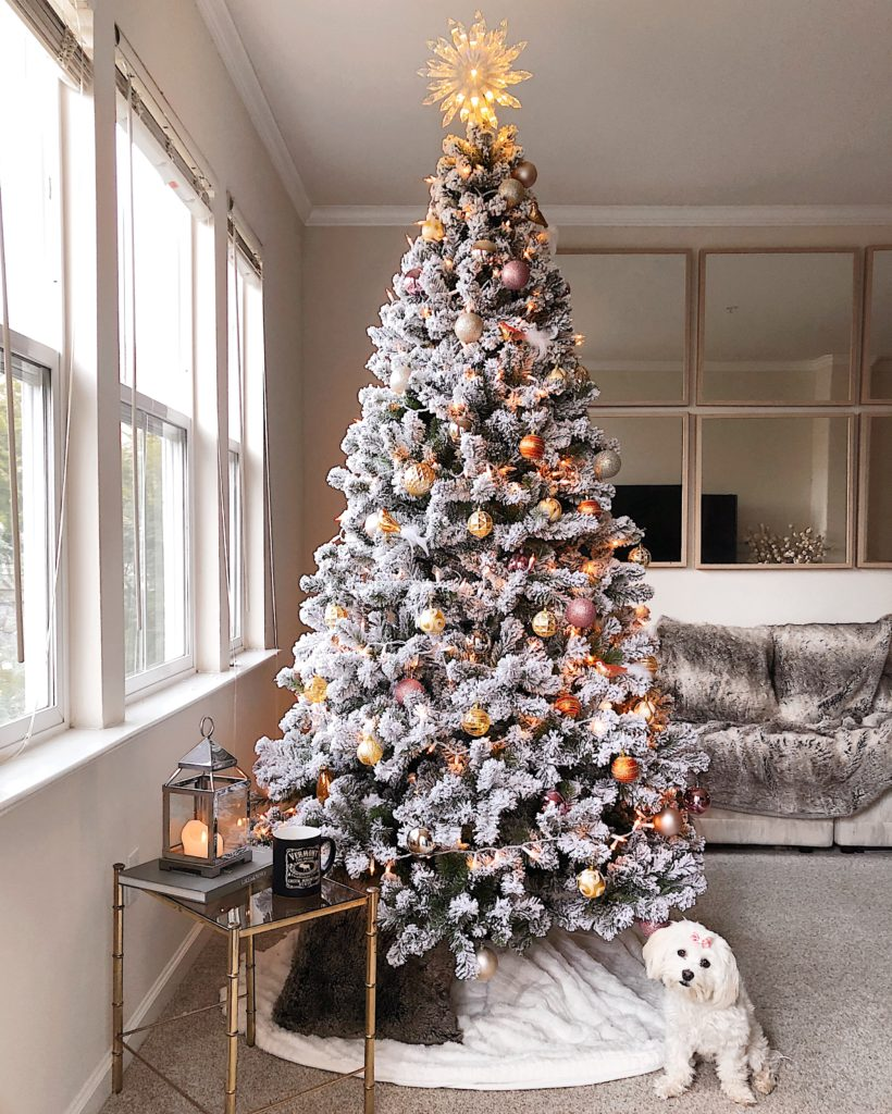 KING OF CHRISTMAS TREE [7 FOOT PRINCE FLOCK, UNLIT] | TREE ORNAMENTS | TREE  TOPPER | FAUX FUR BLANKET | LANTERN | CHRISTMAS TREE LIGHTS| IKEA MIRRORS